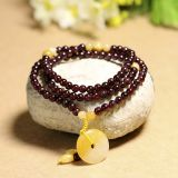 Imported Garnet Handle Take Huanglongyu Hang Huang Chumian Garnet Bracelet