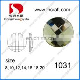 Flat back 1031 items with shinning cutting facet crystal glass stones ,rhinestones for garment or jewelry
