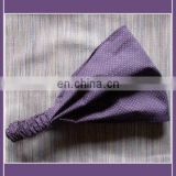 Violet dots design cotton elastic hair tie