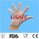 Level 5 cut resistant stainless steel metal mesh glove