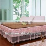 exquisite designed bed skirt for star hotel