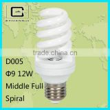 2014 new 12w full spiral energy saving lamps