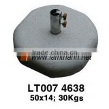 Round Decoration Grey Stone Garden Umbrella Base