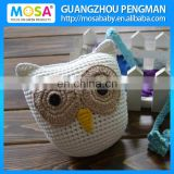 White Toddler Boys Lovely OWL Animal Crochet Stuffed Doll,Baby Shower Gift Knitted Stuffed Toy