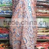 Indian Handmade Cotton Block Printed Sarong Beach Wear Pareo Swimsuit Girls Swim Wear Scarf Wrap