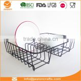 WI2907 Metal Wire Coated Dish Rack Kitchen Sink Drainer
