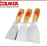 2014 Stainless steel mirror polished paint scraping tools with plastic hand(Toolanda brand)