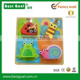 Bestgoal Factory Directly Selling wooden toys educational puzzle for kids frog snail ladybug bee puzzles jigsaw
