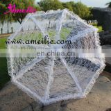 White lace parasol umbrella for wedding decoration
