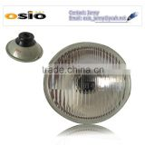 <b>5</b>&#39; Round headlight Galvanized Iron Semi Sealed Beam 12V/24V Auto Halogen <b>Lamp</b> Install H4 or <b>HID</b> H4 <b>Xenon</b> Bulb