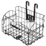 Metal Wire Fold-Up Bicycle Handlebar Front Storage Bike Basket / Cargo Rack with Bracket