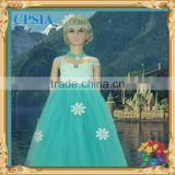 Green Teal Tutu Dress For Girls Hot Selling Snowflake Dress Can make plus sizes Many colors