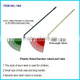 Bulldog Plastic Leaf Rake/ 56- inch Heavy Duty Plastic Canadian Rake Head Replacement Lawn Leaves
