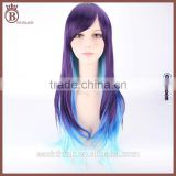 70cm Long Wave Color Mixed Synthetic Anime Lolita Cosplay Party Wig