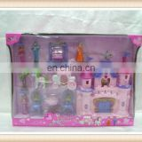 hot sell plastic girl toy small dream castle toy