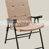 Fashion outdoor folding cushion chairs large size