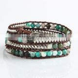 Pure natural turquoise paragraphs female winding bracelet for men and women lovers in Tibet