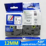 12mm black on white tze 221 compatible brother p touch tz tapes printer ribbon cartridge