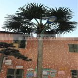 artificial fiberglass coconut palm tree with fireproof for sale outdoor decoration