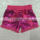 Hot sale Sequin Shorts Girls' Sparkle Shorts Wirh Balls Short pants in stock