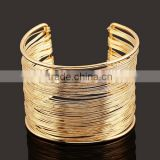 2016 New Arrival vogue opening Iron wire metal bracelet