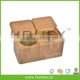 Spice Box Container/Bamboo Spice Jar/Kitchen Accessory/HOMEX-FSC,BSCI