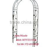 Powder coated wrought steel rose garden arch