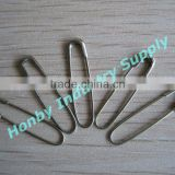 Hot selling silver U shape safety pin for knit and crochet projects