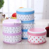 dotted stainless steel lunch box /jihg 2 3 4 layer stainless steel sealed thermal insulation lunch box/ fancy dinnerware