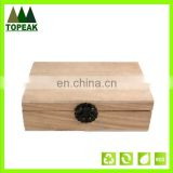 Various dimensions wooden box custom logo printing gifts/flowers/jewelry/tea/soap Packaging Box
