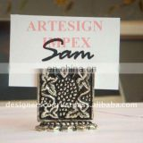 Embossed Silver Wedding Favor Place Card Holder