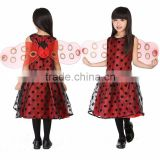 Kids Ladybird Costume Little Girls Fancy Dress Ladybug Fairy Dress Children's Day Costume Halloween Party Costumes