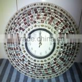 metal mosiac handmade indian clock