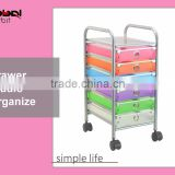 6 Drawer Rolling Storage Cart Storage Paper Office School Organizer Colorful