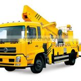 good quality 190HP highest 6 wheel 32m telescopic boom aerial platform truck