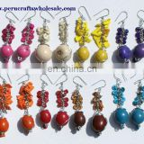 Color Peruvian Seed Pearl Earrings Handmade Jewelry Wholesale
