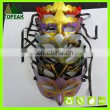 Plastic Gold lace Glitter Painted mask Halloween Karneval party PVC party Cosplay face mask