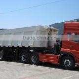 Dongfeng truck tractor and dump semi-trailer
