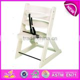 Professional baby high chair wood,wooden baby high chair,best quality wooden baby high chair dinner chair set W08F036