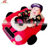 Custom Plush Soft Stuffed Red Baby Car Toy