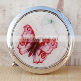 Customize Metal Antique Butterfly Pocket Mirror