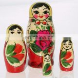 Semenovskaya Wooden Nesring Russian Dolls Russian Traditional Doll Toy Nesting Dolls Wooden Toys For Baby Girls Set 4 pc