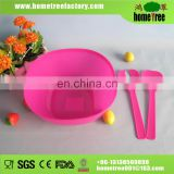 New product Korean plastic salad bowl with spoon