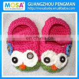 Crochet Newborn Shoes Baby Girl Owl Mary Jane Hot Pink Green Flower Animal Booties