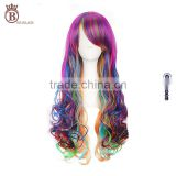 65cm Long Wave Color Mixed Synthetic Anime Hair Cosplay Party Wig