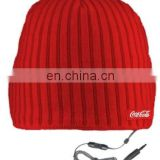 New hot 2011 winter knitted hat with earphone hole