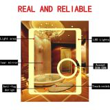 Hotel bathroom waterproof energy-saving LED fogless backlit mirror with mirror defogger