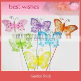 Spring series artificial nylon paint butterfly stick garden decoration
