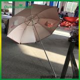 Outdoor Garden Pool Red Folding Beach Umbrella with Round Side