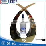 Three pcs bottle bar liquor display,liquor bottle display shelf,battery powered led signs sign maker brand marketiing